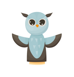 Hand or finger puppets play doll owl cartoon vector