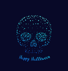 Happy halloween poster with skull vector