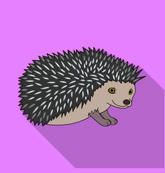 hedgehoganimals single icon in flat style vector image