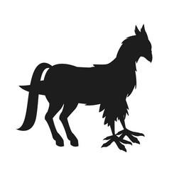 hippogriff greek mythological creature legendary vector image