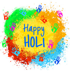 indian holiday holi vector image