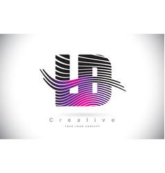 Ld l d zebra texture letter logo design with vector