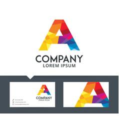Letter a - logo design vector
