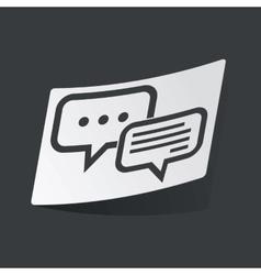 Monochrome answering sticker vector