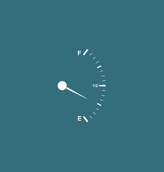 Motor gas gauge icon isolated with long shadow vector