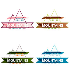 Patterns setmountains logo design template vector