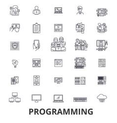 programming programmer code computer software vector image