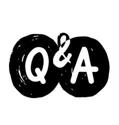 q and a grunge symbols question and answer vector image