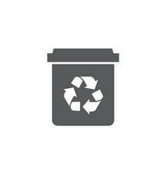 recycle bin icon on white background vector image