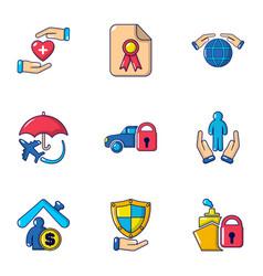 sacrifice icons set flat style vector image