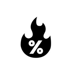 sale discount hot price fire flat icon vector image
