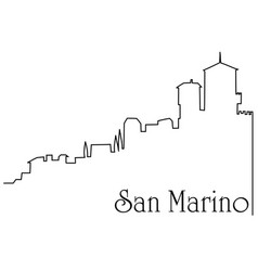 san marino city one line drawing background vector image