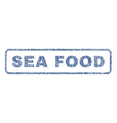 Sea food textile stamp vector