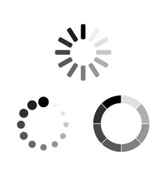 set loading icons load load icons white vector image