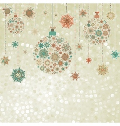 Stylized Christmas balls on elegant EPS 8 vector
