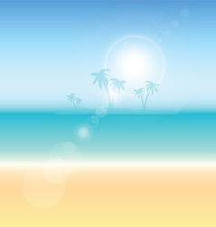 Summer themed background vector image