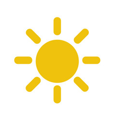 sun day isolated icon vector image