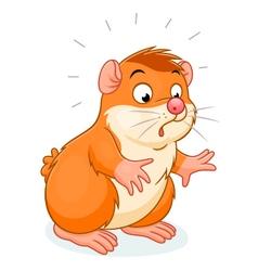 surprised hamster vector image