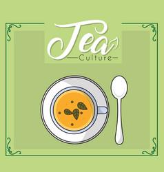 Tea culture concept vector