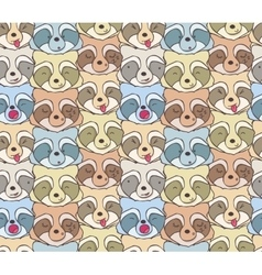 The pattern of funny raccoons vector image