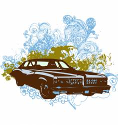 vintage car illustration vector image