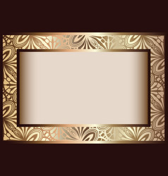 Vintage gold rectangle frame vector
