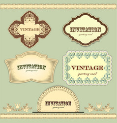 vintage labels set - vector image