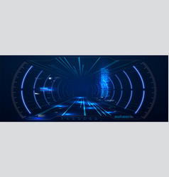 virtual reality futuristic vr head-up display vector image
