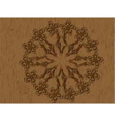 Woodcut pattern vector