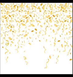 gold confetti isolated on vector image vector image