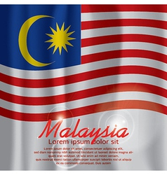 Malaysia Flag Curtain vector image vector image