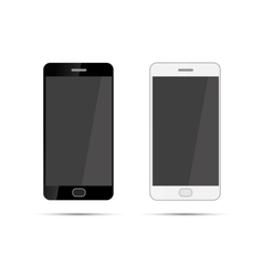Mobile smartphones mock-up in black and white vector image