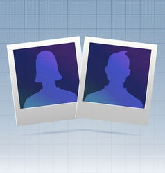 Social network couple vector image vector image