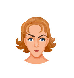 Young woman head vector