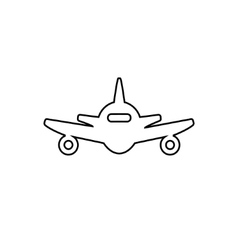 Abstract line plane icon vector image