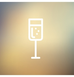 Glass of champagne thin line icon vector image