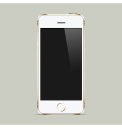Realistic white mobile phone with blank screen vector image