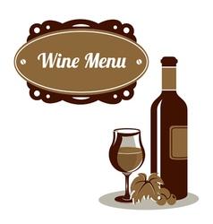Red wine menu icon vector image vector image