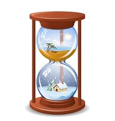 Seasonal sandglass vector image