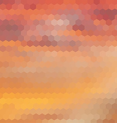 Sundown themed background with hex grid vector image vector image