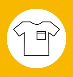 t-shirt icon design vector image vector image