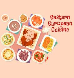 eastern european cuisine festive dishes icon vector image vector image