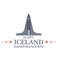 Independence Day Iceland vector image vector image