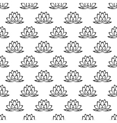 Lotus flower pattern seamless vector image vector image