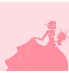 Wedding background with bride vector image vector image