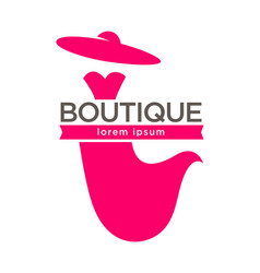 dress boutique or lady fashion atelier salon vector image vector image
