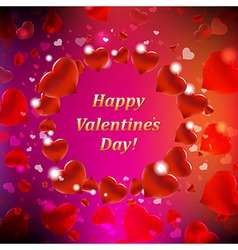 Happy Valentines Day Card With Bokeh vector image