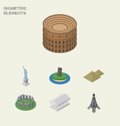 isometric cities set of athens paris england vector image