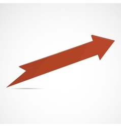 Red arrow icon vector image vector image