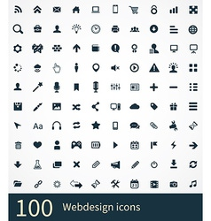 100 webdesign icons set vector image